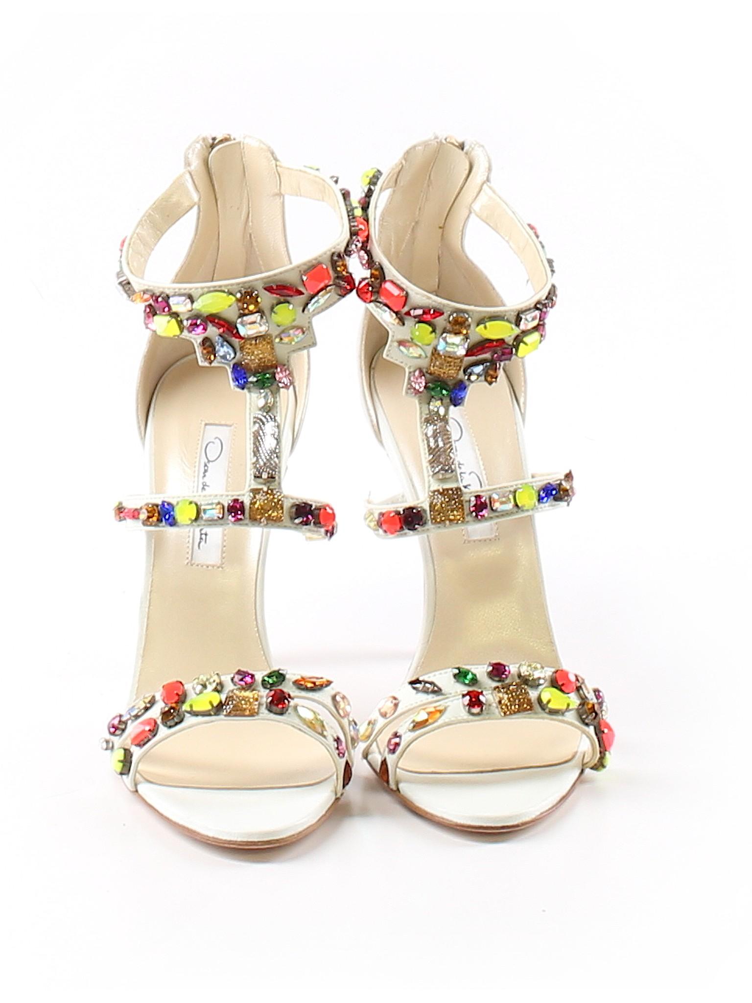 Nappa Renta Oscar Ivory Boutique De promotion heels La Simona qIaH0w5
