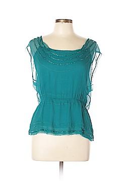 Diane von Furstenberg Short Sleeve Silk Top Size 12
