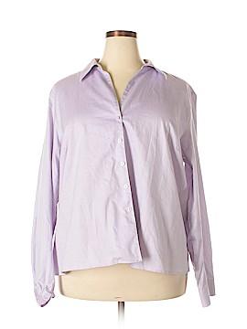 Evan Picone Long Sleeve Button-Down Shirt Size 24 (Plus)