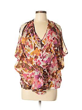 Aryn K. 3/4 Sleeve Silk Top Size M