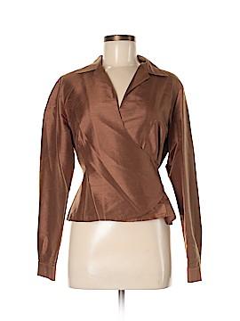Rafaella Long Sleeve Silk Top Size 8