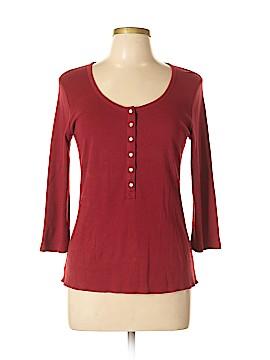 Liz & Co 3/4 Sleeve Henley Size L