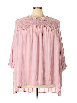 Suzanne Betro 3/4 Sleeve Blouse Size 3X (Plus)