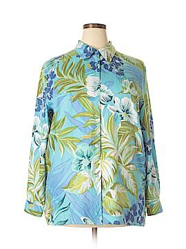 Diane Gilman Long Sleeve Silk Top Size XL