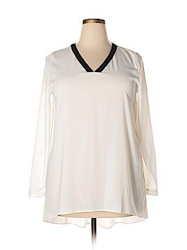 Susan Graver Long Sleeve Blouse Size 14