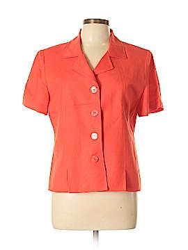 Jessica Howard Short Sleeve Button-Down Shirt Size 12