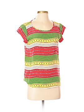 Sara Campbell Short Sleeve Silk Top Size S