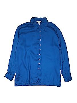 Bogari Long Sleeve Silk Top Size M