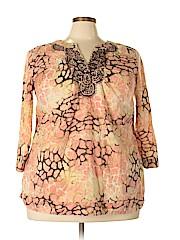 Charter Club Women 3/4 Sleeve Blouse Size 2X (Plus)