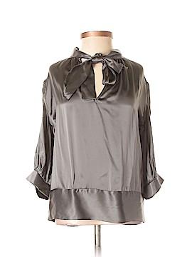 Amanda Uprichard Long Sleeve Silk Top Size P