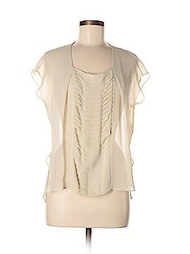 RobbI & Nikki Short Sleeve Silk Top Size XS