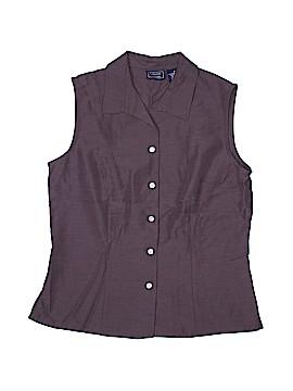 Laura Scott Sleeveless Button-Down Shirt Size 8