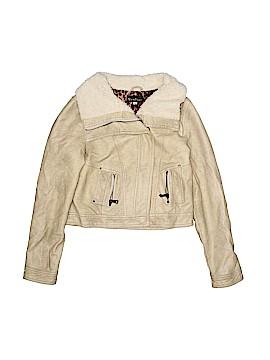 Hannah Banana Faux Leather Jacket Size 10
