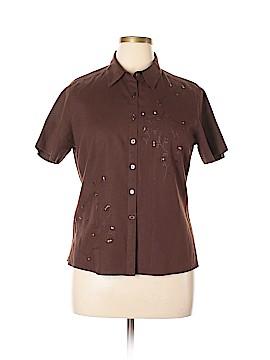 Sag Harbor Short Sleeve Button-Down Shirt Size 12
