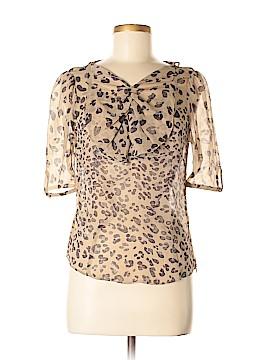 Hoss Intropia Short Sleeve Silk Top Size 38 (EU)