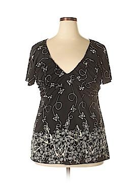 L8ter Short Sleeve Blouse Size 2X (Plus)