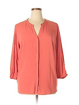 Great Northwest Indigo 3/4 Sleeve Blouse Size 1X (Plus)