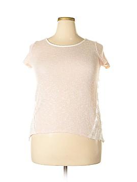 Blushed Short Sleeve Top Size L
