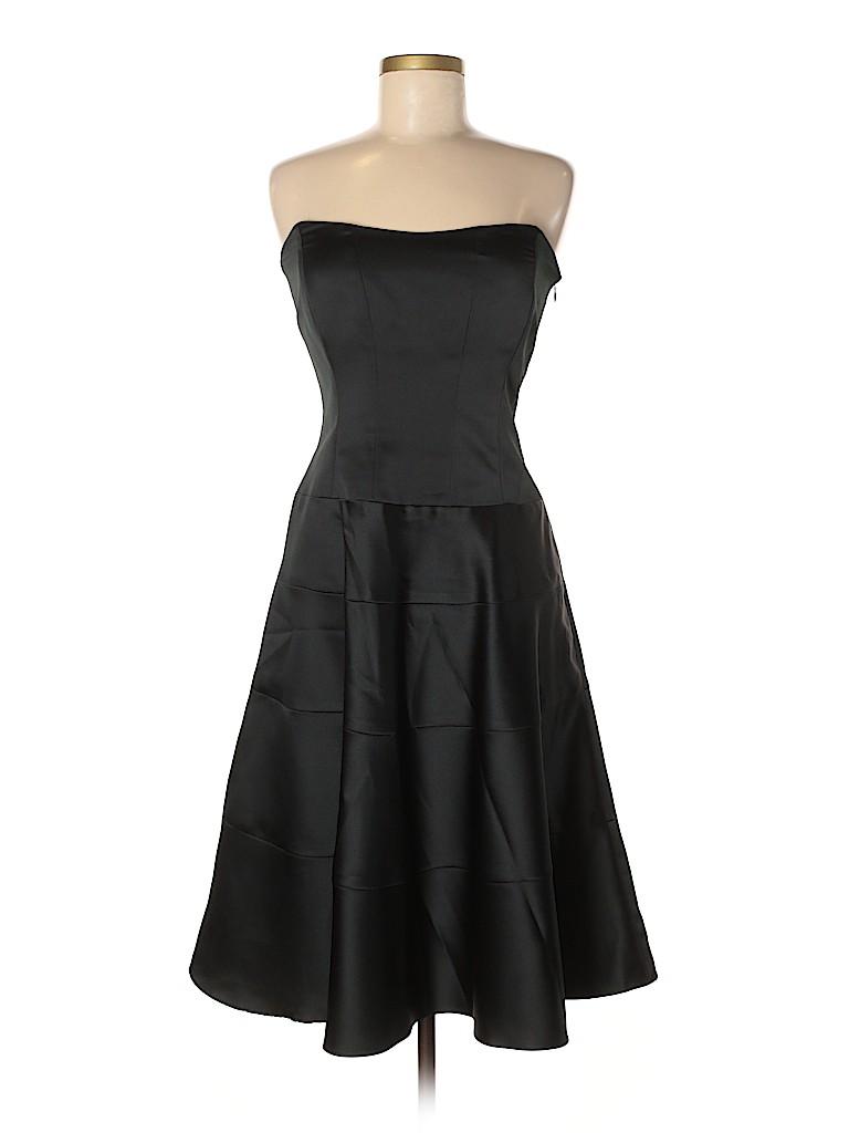 Nicole Miller 100 Polyester Solid Black Cocktail Dress Size 8 82