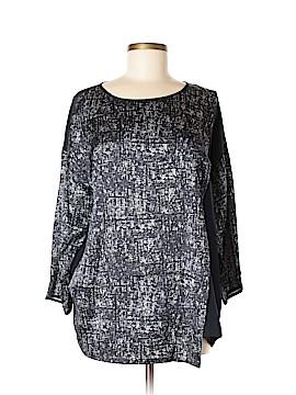 Lafayette 148 New York 3/4 Sleeve Silk Top Size L
