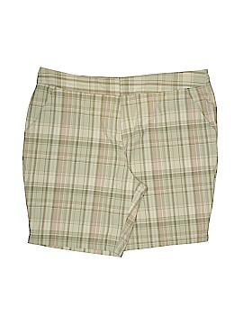 Basic Editions Khaki Shorts Size 20 (Plus)