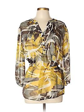 Nicole Miller New York City 3/4 Sleeve Blouse Size XL