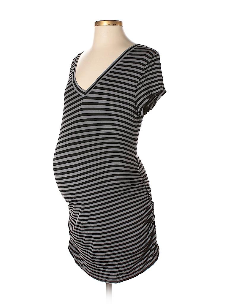 e3efc511180d5 Liz Lange Maternity for Target Stripes Gray Casual Dress Size M ...