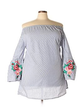 Velzera 3/4 Sleeve Blouse Size 1X (Plus)