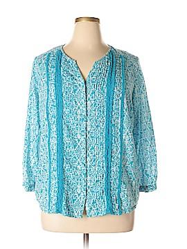 Great Northwest Indigo Long Sleeve Blouse Size XL