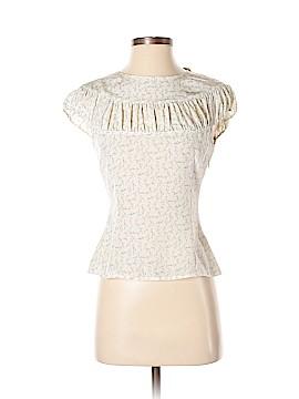 Max Azria Short Sleeve Silk Top Size 4