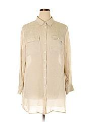 Soft Surroundings Women Long Sleeve Silk Top Size 1X (Plus)