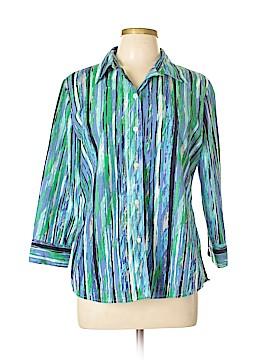 Alia Long Sleeve Button-Down Shirt Size 10