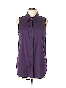 Theory Sleeveless Button-Down Shirt Size XL
