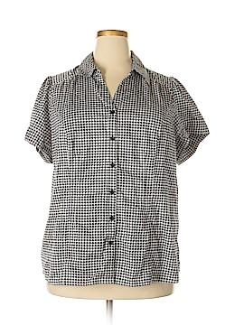 Lane Bryant Short Sleeve Button-Down Shirt Size 24 (Plus)