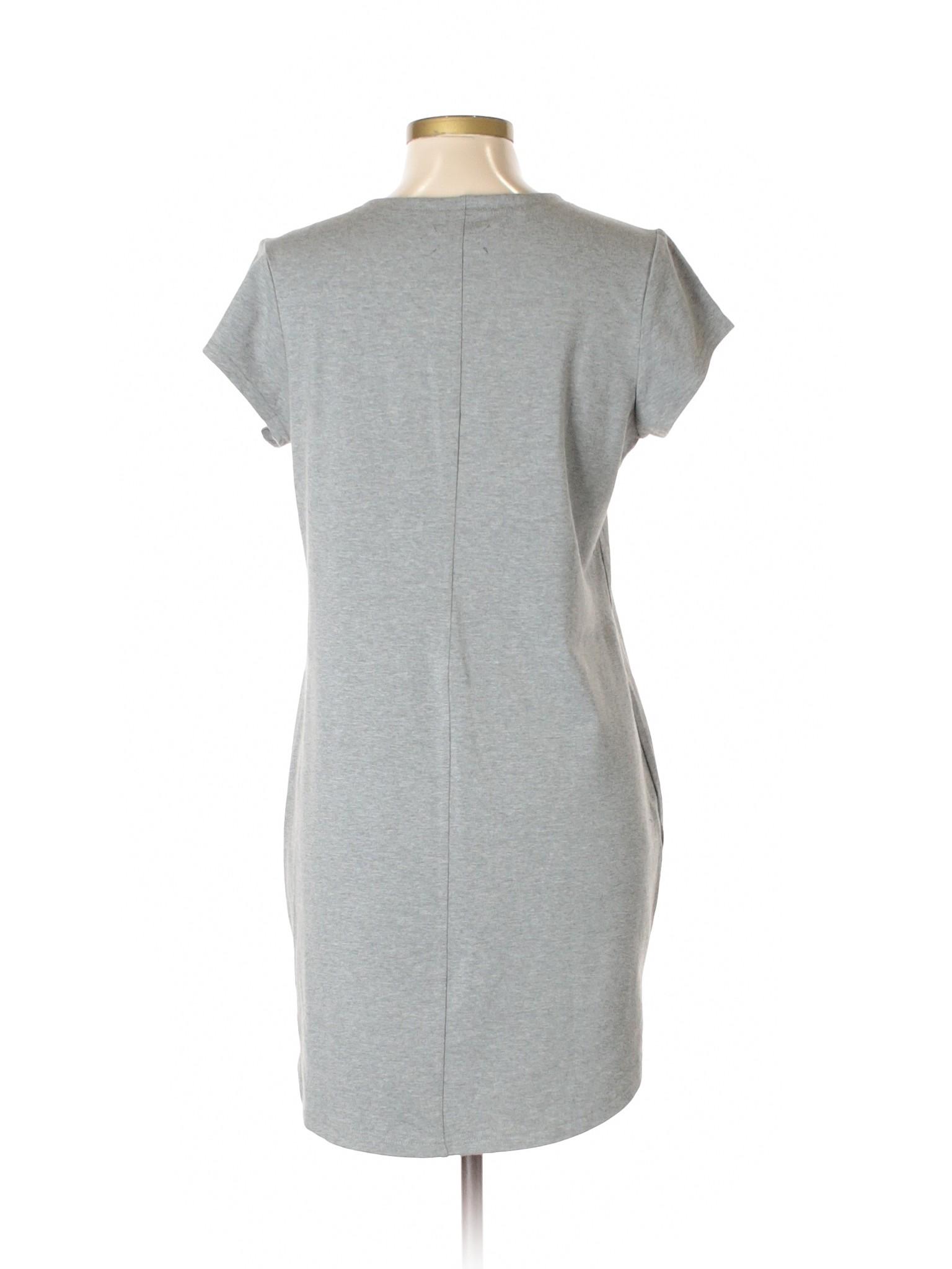 Dress winter Casual Lou Boutique Grey amp; 7xXW6q