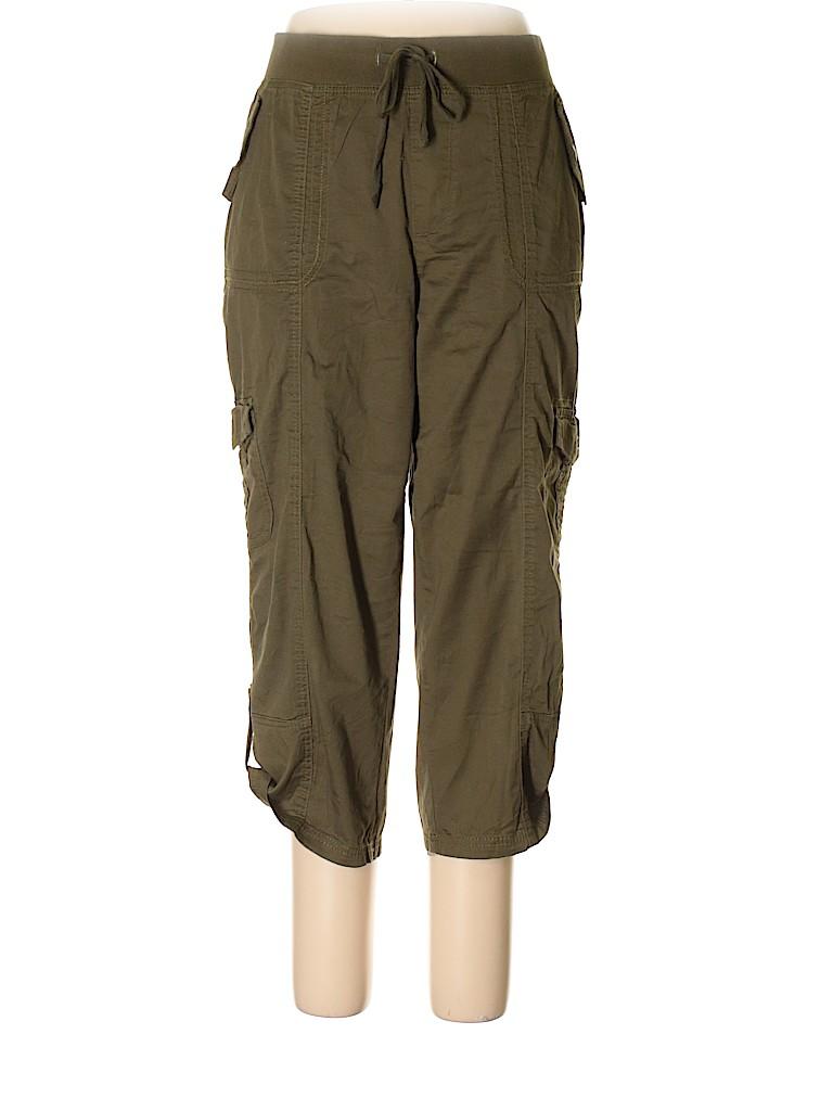 2d616c8538e Cato Plus Solid Green Cargo Pants Size XL (Plus) - 67% off