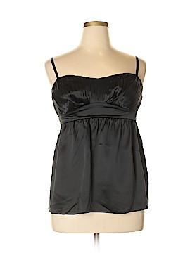 Inc Denim Sleeveless Silk Top Size 14