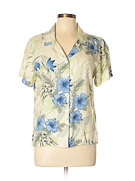 Caribbean Joe Short Sleeve Silk Top Size L