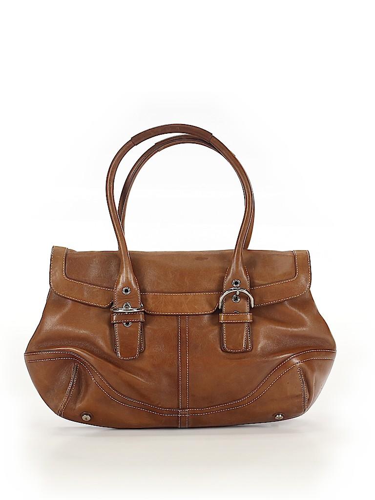 Coach Women Leather Satchel One Size
