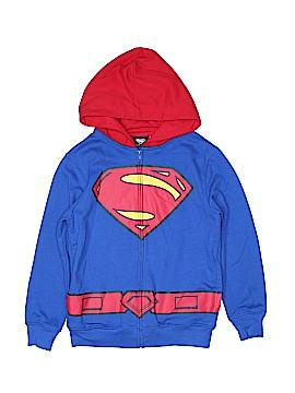 Superman Zip Up Hoodie Size 8
