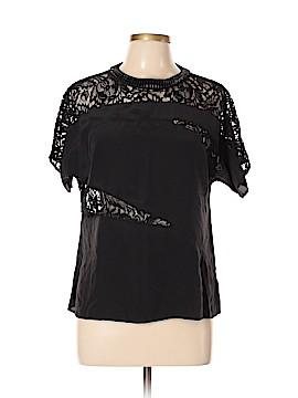 Nanette Lepore Short Sleeve Silk Top Size 10