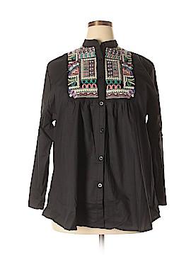 Velzera Long Sleeve Button-Down Shirt Size 3XL (Plus)