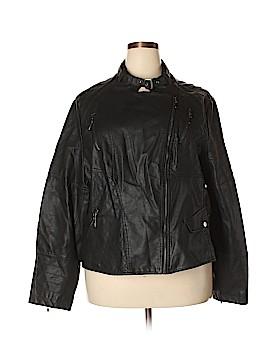 Max Jeans Faux Leather Jacket Size 3X (Plus)