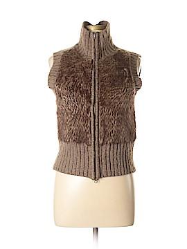 CAbi Faux Fur Vest Size M