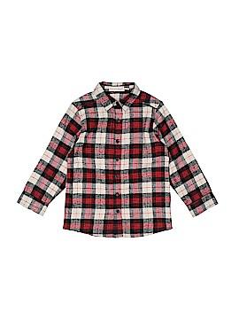 Deux Par Deux Long Sleeve Button-Down Shirt Size 6