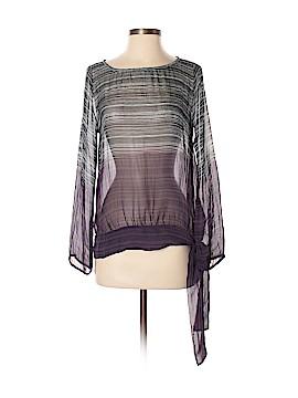 Language Long Sleeve Silk Top Size S