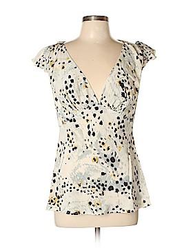 Moda International Short Sleeve Silk Top Size L