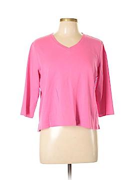 Kim Rogers 3/4 Sleeve T-Shirt Size L (Petite)