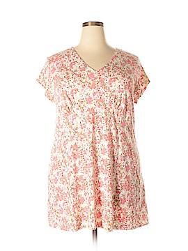 Sahalie Short Sleeve Top Size 2X (Plus)