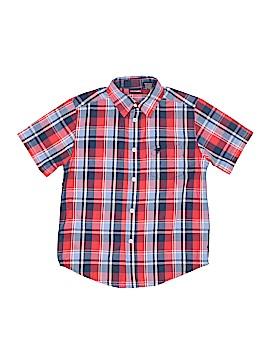 Wrangler Jeans Co Short Sleeve Button-Down Shirt Size 6 - 7